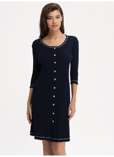 Ayyıldız Ev Elbisesi Lacivert
